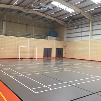 Acousta Tex Colinwell Acoustic Block- Allen Park Sports Hub, Antrim - Colour: Cream (1)