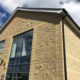 Office Park, Dundonald, Belfast - Smooth & Split Face Sandstone.JPG